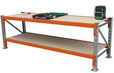 Pallet Racking Work bench with Solid Timber Top - 2951Wx838D - VIC