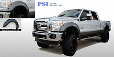BLACK PAINTABLE Pocket Rivet Fender Flares 11-16 Ford F-250, F-350 Super Duty