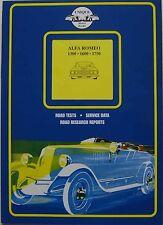 ALFA ROMEO 1300 1600 & 1750 LIBRO delle prove su strada e gli articoli da univoco