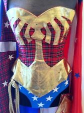 SCOTTISH WONDERwoman corset costume SOLITAIR cape skirt