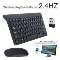 Sans Fil Clavier  2,4GHz jeu de souris mince avec récepteur pour tablette PC