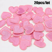 20pcs/lot Love Heart Iron On Patches Embroidered  Clothes  Stickers DIY  Badges