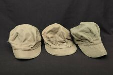 3x Wwii Us Army Usmc Caps, Herringbone Twill Empire Cap Mfg Co Uniform Field Hat