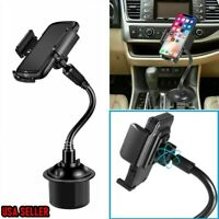 US Universal Adjustable Gooseneck Car Cup Holder Cell Phone Mount for iPhone #1