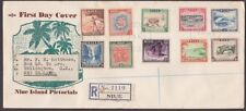 NIUE 1950 Definitive set on registered FDC to New Zealand....................236