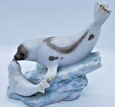 Homco Masterpiece Porcelain 1998 Harp Seals #1127 Figurine Animals Home Interior