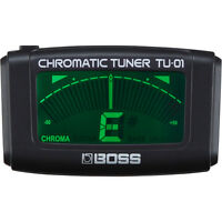 BOSS TU-01 Clip-on Chromatic Guitar Bass Ukulele Headstock Tuner w/ LCD Display