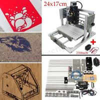 3 Axis Mini CNC Milling Machine Engraving Router Kit + 2500mw Laser Engraver DIY
