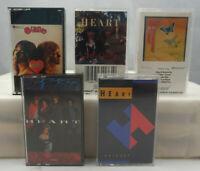 Heart - Annie, Queen, Dog, Brigade + Vintage Rock & Roll Cassette Lot x 5