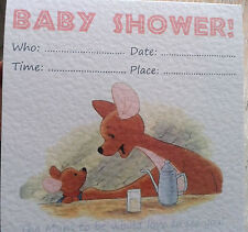 Cute home-made Kanga and Roo Baby Shower INVITE! Baby shower invitation /s