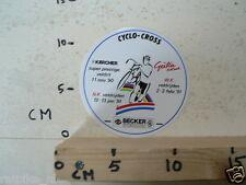 STICKER,DECAL WK CYCLO CROSS VELDRIJDEN 1991 GIETEN DU MONDE CYCLING A