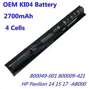 OEM KI04 Battery For HP Pavilion 14/15/17-AB000 HSTNN-LB6S/DB6T 800049-001 4CELL