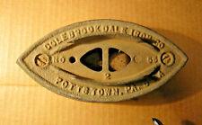 Colebrookdale Iron Co. Pottstown Pa No.55 Sad Iron
