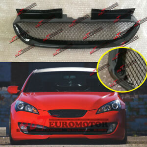 Glossy Black Front Bumper Grille Vent Scoop for Hyundai 2008-2012 Genesis Coupe
