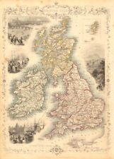 BRITISH ISLES. Counties. England Wales Scotland Ireland. RAPKIN/TALLIS 1851 map