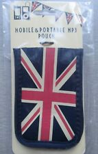 NEW Mobile Phone MP3 Earphones Lighter Jewellery Pouch UJ Union Jack Flag