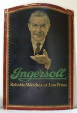 1920's Ingersoll Watch Display by Saturday Evening Post Artist Frederic Stanley