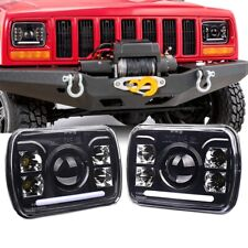 "2PCS CREE 5X7"" 7x6"" LED Headlights Hi-Lo Beam For Ford GMC Jeep Cherokee XJ YJ"