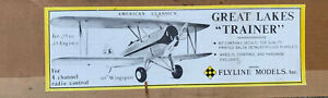 FLYLINE MODELS GREAT LAKES TRAINER RADIO CONTROLLED BALSA KIT
