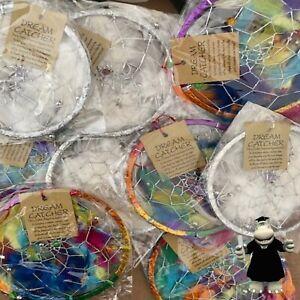 Joblot Wholesale 10 x Dream Catchers 5 Multicoloured 5 Silver Brand New In Packs
