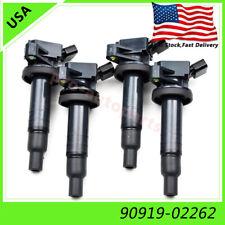 4pcs Ignition Coils 90919-02262 Denso for Toyota Celica Corolla Matrix MR2 1.8L