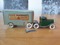 Triang Minic Pre War articulated Pantechnicon 30M with Key Truck+Trailer