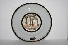 The Art of Chokin Hawaii Plate Luau Dancers Beach Palm Trees Instrument 24K Gold