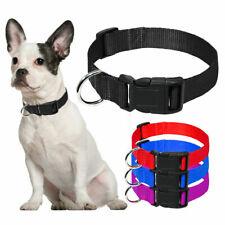Nylon Dog Collar Heavy Duty Clip Buckle Martingale Pet Collar Adjustable L XL