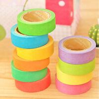 10x Design Tape Klebeband Papierklebeband Bunt Washi Masking Tape-Dekor