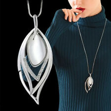Fashion Women Opal Leaf Long Chain Hollow Wedding Party Sweater Necklace Cheap