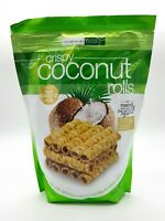 Tropical Fields Crispy Coconut Milk Rolls Roasted Black Sesame Seeds 285g