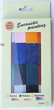 "Encaustic Painting - Wachsblock Set ""Natura"" 16 Farben"