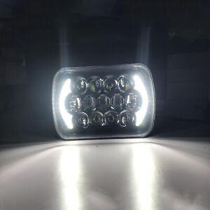 """7x6"""" LED Headlight Bulb Hi/Lo Beam Halo DRL For Cherokee XJ Wrangler YJ 6000K"""