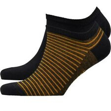 Levi's Mens Sneaker Two Pack Socks Black/Yellow 9-11 42-46