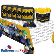 Lego Batman Movie Superhero Childrens Birthday Party Tableware Pack Kit For 16