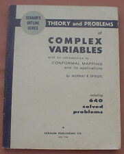 Schaum's Outline: Theory & Problems of Complex Variables ~ Murray R Spiegel '64