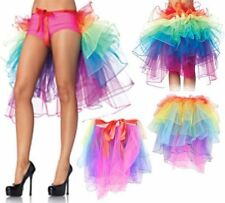 Sexy Women's 5 Layers Organza Tutu Skirt Colorful Mini Dress Dancing Petticoat
