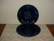 """2-PC JAY WILLFRED ANDREA BY SADEK 8 1/4"""" COBALT """"BLUE"""" PLATES/PORTUGAL/CLEARANCE"""