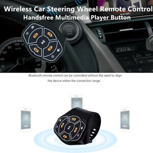 Wireless Bluetooth Car Player Remote Control Button Handsfree For Android iPhone