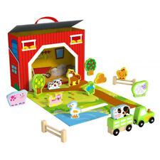 Tooky Toy Wooden Farm Play Box NEW