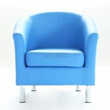 Chaises bleues en cuir pour le bureau