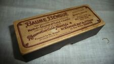 vtg medicine cardboard Box Dr Baume Bengue Union NJ Rheumatism Cold Neuralia