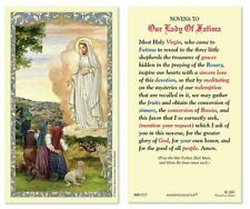 25 Laminated Holy Cards Our Lady of Fatima