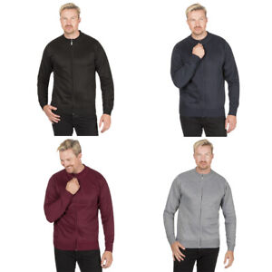 Mens Knitted Cardigan Full Zip Up Long Sleeve Adults Casual Work Winter Warm UK