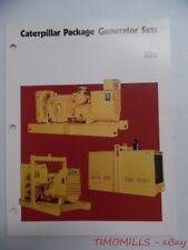 c.1975 Caterpillar Package Generator Set Industrial Brochure Vintage Original VG