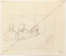 """Broncia Koller-Pinell (1863-1934) """"In Theatre Loge"""", Drawing, 1910s"""