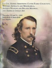 BUTTERFIELDS George Armstrong Custer Family Coll American Indian Art Catalog 89