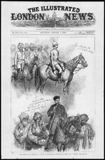 1879-ANTIQUE PRINT Afghanistan gundamuck Simpson Hamilton horse pipe (165)