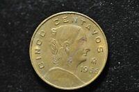 1966 ESTADOS UNIDOS MEXICANOS CINCO CENTAVOS COIN!  CC404XXX