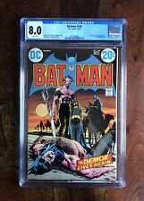 BATMAN #244 CGC 8.0 (9/72) WHITE PAGES DC COMICS RA'S AL GHUL NEAL ADAMS BEAUTY!